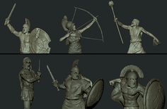Sculpt the stoned soldiers