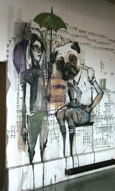 """HERAKUT: Akut is from a small city in what used to be East Germany, and Hera is from Frankfurt. They both started painting because they liked everything graffiti involved (hiphop culture, being outdoors, painting on huge dimensioned """"canvases"""" for everyone to see)."""
