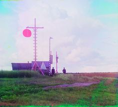 vintage everyday: Rare Color Photographs of Czarist Russia from 1905-1910 Signal Tower in the Village of Burkovo, 1909
