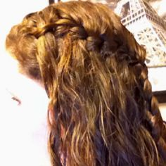 waterfall braid for curly hair! my hair is also wet! it s easiest to do 94efa036963f