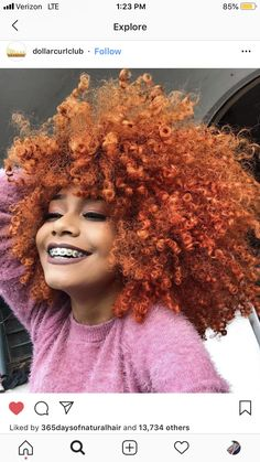 29 Reasons why we envy afro hair Dyed Natural Hair, Natural Hair Care, Dyed Hair, Natural Hair Styles, Colored Curly Hair, Curly Hair Cuts, Curly Hair Styles, Colored Natural Hair, Curly Afro