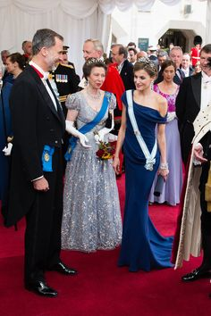 Queen Letizia of Spain Photos Photos - (L-R) King Felipe VI of Spain, Princess Anne, Princess Royal and Queen Letizia of Spain attend the Lord Mayor's Banquet at the Guildhall during a State visit by the King and Queen of Spain on July 13, 2017 in London, England.  This is the first state visit by the current King Felipe and Queen Letizia, the last being in 1986 with King Juan Carlos and Queen Sofia. - State Visit of the King and Queen of Spain - Day 2