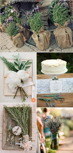 Decora tu boda con plantas aromáticas. Un estilo provenzal y mediterraneo