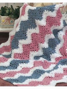 Free Baby's Quick Ripple Crochet Afghan Pattern by Tristessa75