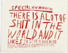 Chris Johanson   Untitled (Special new information) (2000)