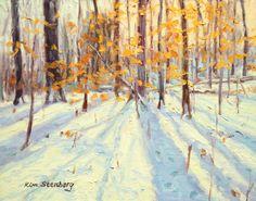 Winter Magic Original Oil Light Filled Landscape Painting by KimStenbergFineArt, $150.00
