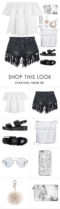 """Untitled #2751"" by wtf-towear ❤ liked on Polyvore featuring Madewell, Sans Souci, Jeffrey Campbell, ILI, Bottega Veneta, INDIE HAIR, Fendi and Casetify"