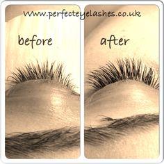 Lash transformation at Perfect Eyelashes