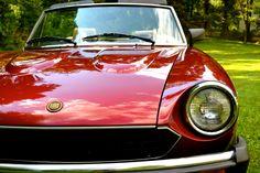 my 1981 vintage car/ antique car. Red Fait Pininfarina Spider