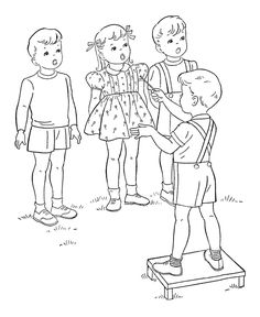 children singing coloring page - Bing Images