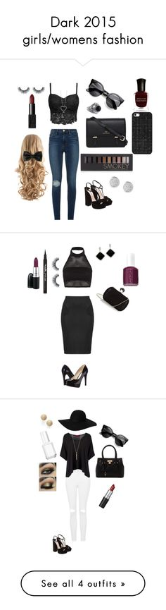 """""""Dark 2015 girls/womens fashion"""" by ootdqueen1889 on Polyvore"""