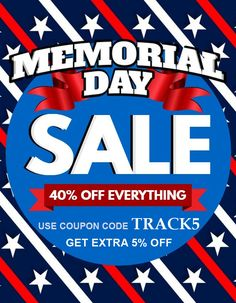 Memorial Day Sale   enjoy a additional 5% off our already low prices that are already up to 40%   off on track and field gear