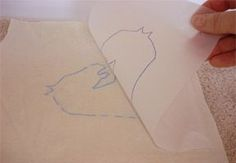 Transferring your designs onto fabric for embroidery