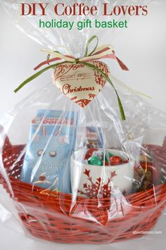 This DIY Holiday Coffee Lovers Gift Basket is such a lovely gift to put together for the coffee lovers in your life. Be sure to whip up a batch of these Candied Fruit Cookies and grab a bag of Dunkin Donuts coffee. (Sponsored by J.M. Smucker Company)