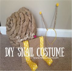 Easy DIY Snail Costume, this tutorial could be used for children or adults. Very affordable and doesn't require a lot of crafting skills. #DIY #Halloween