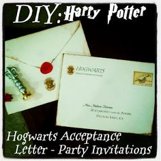 Uniquely Grace: Harry Potter Invitations delivered Owl Post - Harry Potter Party Post #1