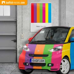Cool graphic style poster True Colors with bright bold rainbow colours and a stylish white bottom. Get your True Colors here. True Colors, Colours, Do It Yourself Furniture, Poster Colour, Poster Prints, Posters, Frame It, How To Look Classy, Rainbow Colors
