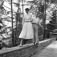 """timelessaudrey: """" Audrey and Mel photographed by Franco Fedeli in Burgenstock,1955 """""""