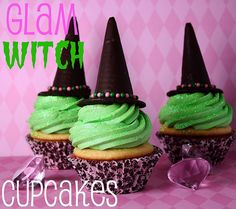 Glam Witch Cupcake from cookbookqueen.com