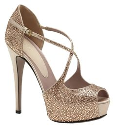 Gucci Women's Lili Crystal Satin High Heel Glitter Pumps Beige Platforms. Get the must-have platforms of this season! These Gucci Women's Lili Crystal Satin High Heel Glitter Pumps Beige Platforms are a top 10 member favorite on Tradesy. Save on yours before they're sold out!