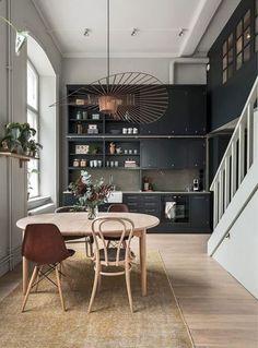 A Cozy Scandinavian Apartment With Stunning Dark Kitchen (Gravity Home)