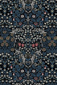 House of Hackney Blackthorn Wallpaper William Morris Wallpaper, Morris Wallpapers, Bathroom Wallpaper, Print Wallpaper, Asian Wallpaper, Funky Wallpaper, Gothic Wallpaper, Navy Wallpaper, Antique Wallpaper