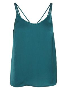 Blue top from VERO MODA. The perfect party top! Style it with a pair of leather trousers.