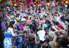 Kate Middleton (and a sea of cell phones!)