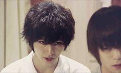 "Kento Yamazaki, J drama series ""Death Note"".  [Ep. w/Eng. sub] http://www.dramatv.tv/search.html?keyword=Death+Note+%28Japanese+Drama%29"