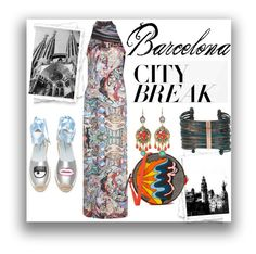 """""""Barcelona city break."""" by cristinaconst ❤ liked on Polyvore featuring Bashaques, Chiara Ferragni, Olympia Le-Tan, Boutique+ and WithChic"""