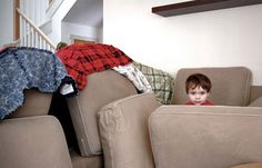 Couch forts with pilled cushions, blankets and chairs. Kids Couch, Kids Pillows, Cabana, Sofa Fort, Blue Matter, Blanket Fort, Indoor Activities For Kids, Couch Cushions, Good Ol