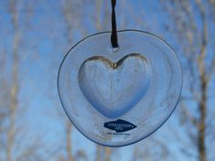 Vintage Nuutajarvi Heart Shaped Ornament