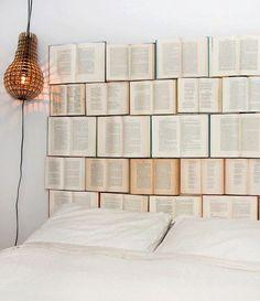 Book headboard - MAJOR #DIY goodness!