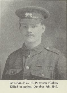 H Pattison: one of the many men from our York factory who gave their lives in the First World War.