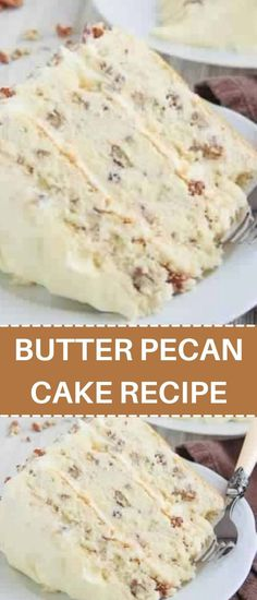 Quick Recipes, Cake Recipes, Dessert Recipes, Desserts, Toasted Pecans, Butter Pecan Cake, Italian Cream Cakes, Pie Cake, Pecans