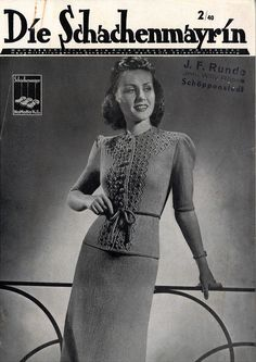 The Vintage Pattern Files: Free 1940's Knitting Booklet - Die Schachenmayrin 02 1940