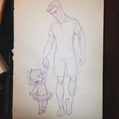 I saw the cutest dad walking with his little daughter the other day!!! ❤️❤️❤️❤…