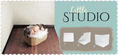 Little Studio 3.5ft × 3.5ft newborn studio setup by Westcott.