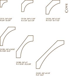 Cove Moulding :: Architectural Moulding Profiles :: Tilo Industries