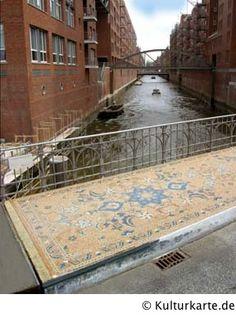 Teppich aus Stein, Wilhelminenbrücke, Speicherstadt, Hamburg