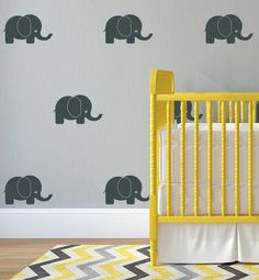 Elephant Wall Decal Nursery Decal Cute Wall Sticker Baby Elephant Wall Sticker Vinyl Playroom Stencil Customizable Gift by BlackLotusDesgns on Etsy https://www.etsy.com/uk/listing/521093825/elephant-wall-decal-nursery-decal-cute