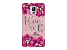"""""""I Can, I Will"""" Motivational Floral Phone Cover"""