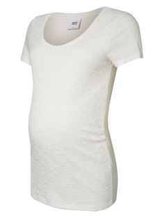 Cute white maternity tee from MAMALICIOUS.