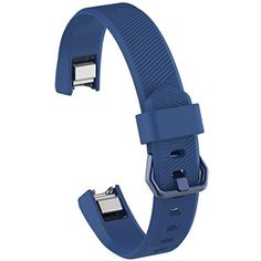 Outsta Luxury Silicone Watch Replacement Band Strap For Fitbit Alta HR Wristband (Navy) * Click on the image for additional details. (This is an affiliate link) #ClipsArmWristbands
