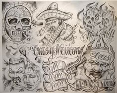 Chicano Drawings Of Roses chicano Gangsta Tattoos, Chicano Tattoos, Lettrage Chicano, Chicano Drawings, Tattoos Skull, Girl Tattoos, Facial Tattoos, Boog Tattoo, Sketch Tattoo Design