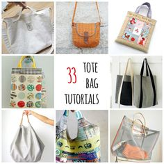 s.o.t.a.k handmade: thirty - three tote bag tutorials. These are all free