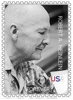 SF Author Stamps - Robert Heinlein