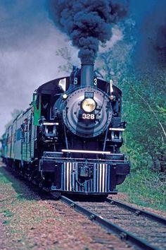 Trains - NP 328 approaching Lake Elmo.jpg (384×576)