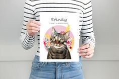 Fun Illustrations and heartwarming gifts by LadyFatCat Fun Illustration, Illustrations, Dog Portraits, Etsy Seller, Graphic Sweatshirt, Cat, Illustration, Cat Breeds, Kitty