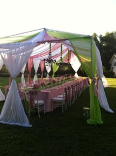 I know we won't be doing this as it, but may be an idea to dress up the tents.